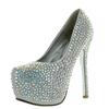 Silver Rhinestone Covered Platform Pumps / Rsvp Prom and Pageant, Atlanta, GA / Best Prom Store in Atlanta / #Promheaven