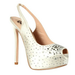 White Peep Toe Platform 4 Inch Heels / Rsvp Prom and Pageant, Atlanta, GA / Best Prom Store in Atlanta / #Promheaven