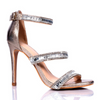 Nude Strappy Sparkly High Heel