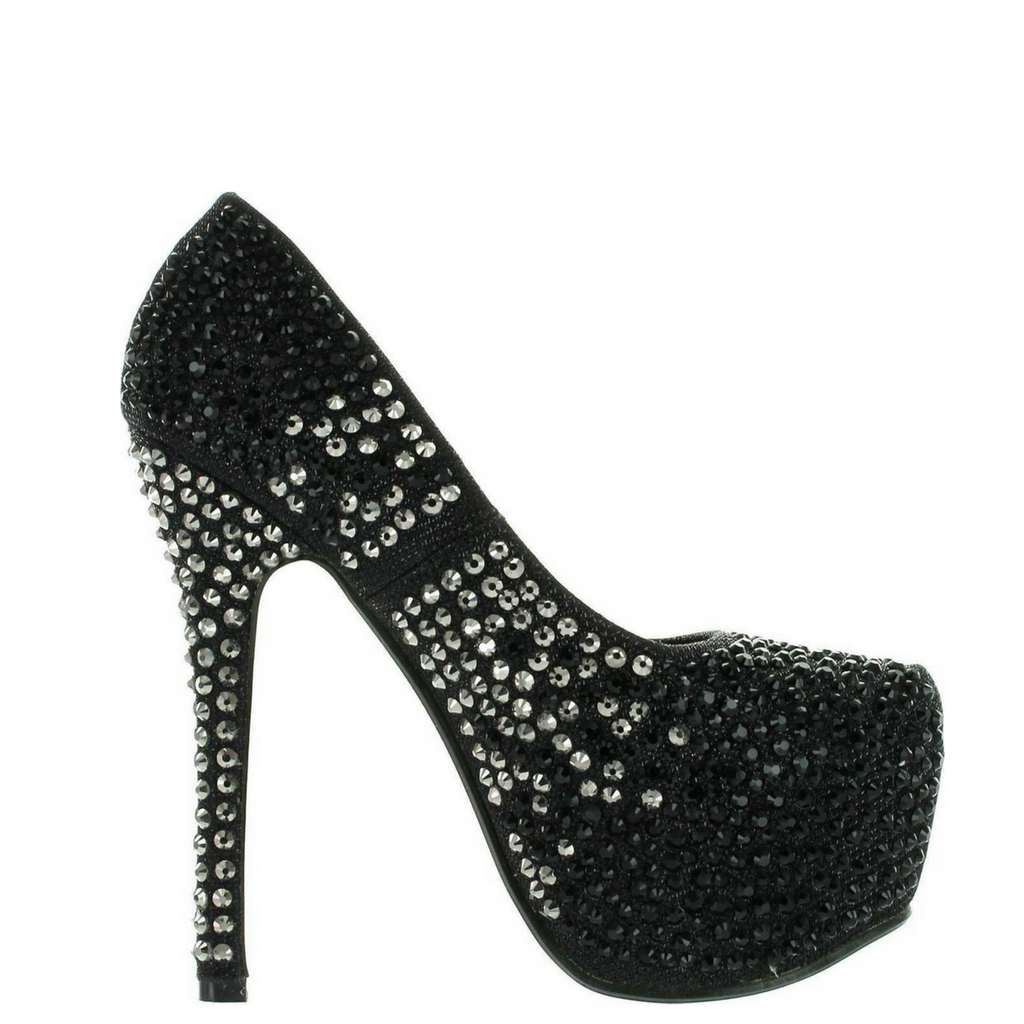 Black/Silver Rhinestone Covered Platform Pumps / Rsvp Prom and Pageant, Atlanta, GA / Best Prom Store in Atlanta / #Promheaven