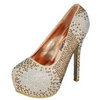 Bronze Rhinestone Covered Platform Pumps / Rsvp Prom and Pageant, Atlanta, GA / Best Prom Store in Atlanta / #Promheaven