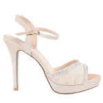 Nude Lace Sparkly High Heel