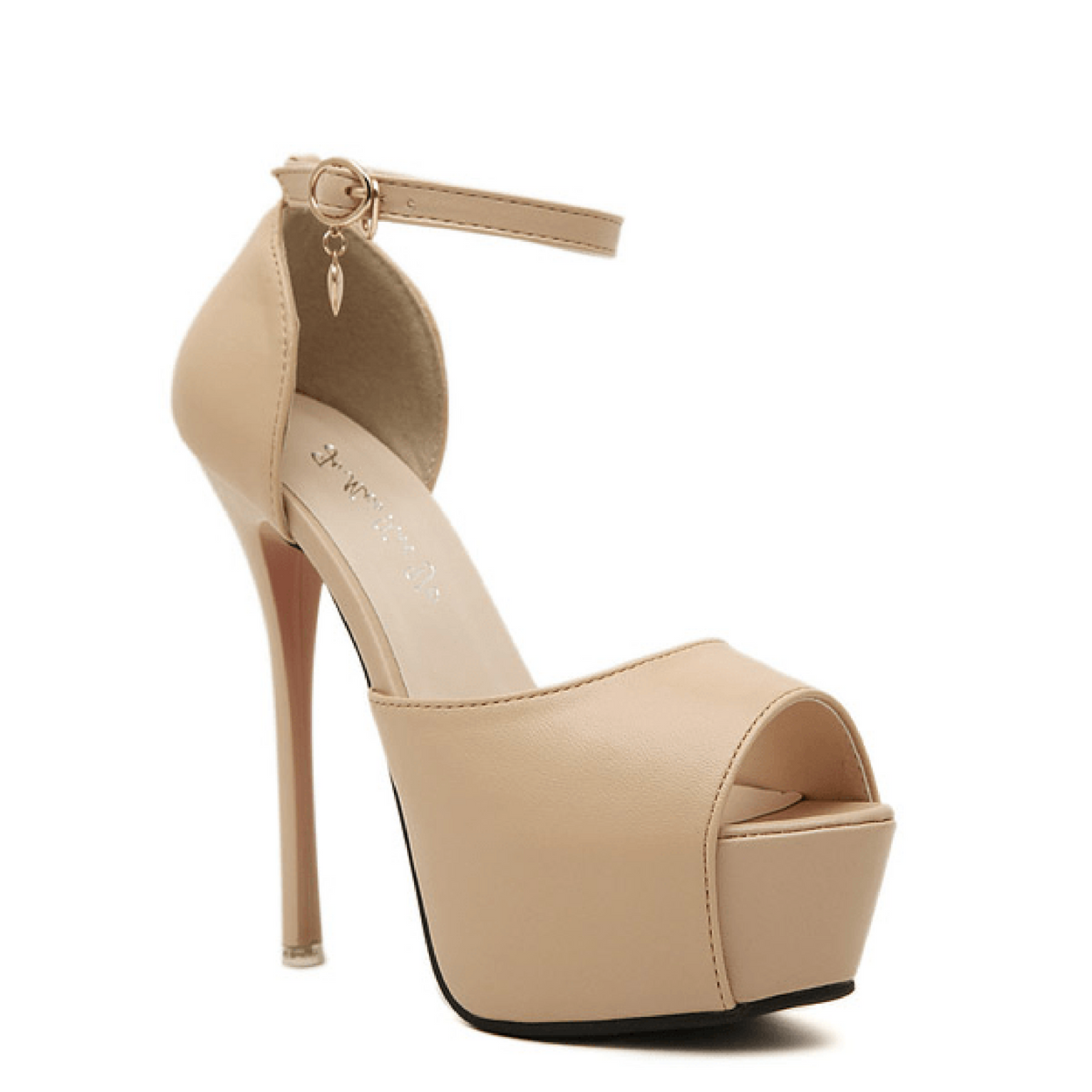 NUDE PEEP TOE BLING Shoes, Rsvp Prom