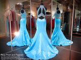 Aqua Multi Colored Beaded Mermaid Prom Dress - Rsvp SK - Long Gown - Rsvp Prom and Pageant - 3