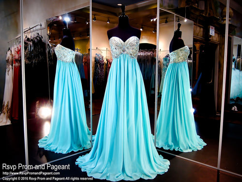 Tiffany Chiffon A Line Evening Gown-Beaded Sweetheart-Strapless-116XCT0306530 - Rsvp XCT - Long Gown - Rsvp Prom and Pageant Atlanta, Georgia GA - 1