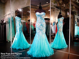 Turquoise/Nude Sweet Heart Neckline Mermaid - Rsvp XCT - Long Gown - Rsvp Prom and Pageant - 1