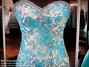 Turquoise/Nude Sweet Heart Neckline Mermaid / Rsvp Prom and Pageant, Atlanta, GA / Best Prom Store in Atlanta / #Promheaven