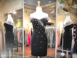 Black Off-The-Shoulder Beaded Homecoming Dress (SALE) - Rsvp HS - Short Dress - Rsvp Prom and Pageant Atlanta, Georgia GA - 1
