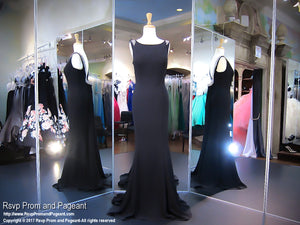 Sexy Black High Neckline Prom Dress - Rsvp COL - Long Gown - Rsvp Prom and Pageant Atlanta, Georgia GA - 1