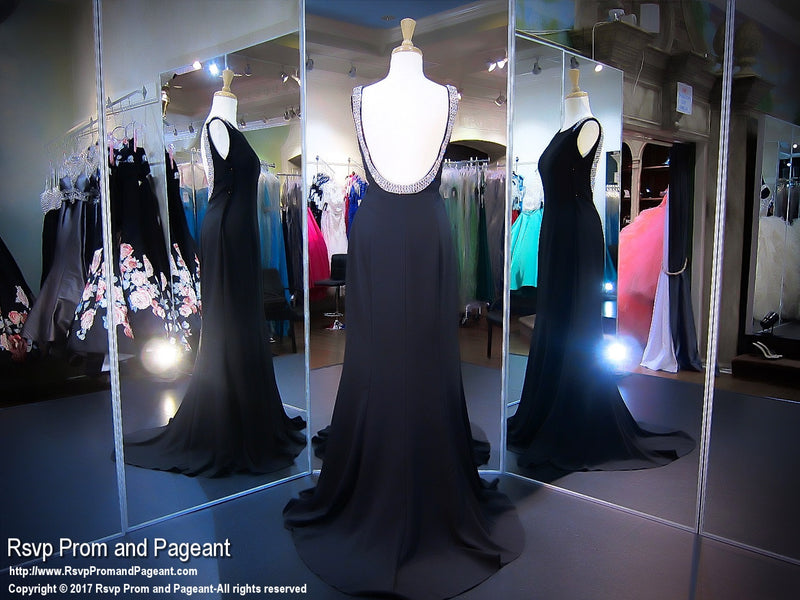 Sexy Black High Neckline Prom Dress - Rsvp COL - Long Gown - Rsvp Prom and Pageant Atlanta, Georgia GA - 3