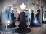 Black High Neck Jersey Prom Dress - Rsvp EC - Long Gown - Rsvp Prom and Pageant Atlanta, Georgia GA - 3