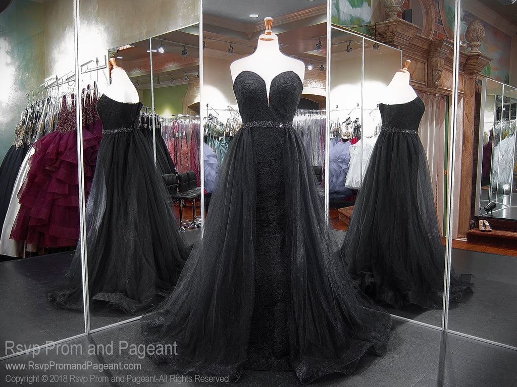 Black PLUS Sweetheart Mermaid Prom Dress 118RA063000 / Rsvp Prom and Pageant / Best Prom Dresses Atlanta