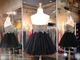 Black Strapless Sweetheart Gold Beaded Homecoming Dress - Rsvp JV - Short Dress - Rsvp Prom and Pageant - 3
