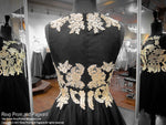 Black and Gold Sweetheart Halter Short Homecoming Dress / Rsvp Prom and Pageant / Best Prom Store