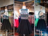Black/Multi Short Homecoming Dress - Rsvp CLAR - Short Dress - Rsvp Prom and Pageant - 1