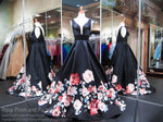 Black/Navy V-Neck Floral Ball Gown Prom Dress 118BP056610 / Rsvp Prom and Pageant / Best Prom Dresses in Atlanta / #Promheaven