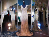 Black/Nude Beaded Cap Sleeve Prom Dress - Rsvp EC - Long Gown - Rsvp Prom and Pageant Atlanta, Georgia GA - 1 - BEST PROM STORE