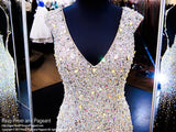 Black/Nude Beaded Cap Sleeve Prom Dress - Rsvp EC - Long Gown - Rsvp Prom and Pageant Atlanta, Georgia GA - 2 - BEST PROM STORE