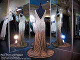 Black/Nude Beaded Cap Sleeve Prom Dress - Rsvp EC - Long Gown - Rsvp Prom and Pageant Atlanta, Georgia GA - 3 - BEST PROM STORE