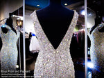 Black/Nude Beaded Cap Sleeve Prom Dress - Rsvp EC - Long Gown - Rsvp Prom and Pageant Atlanta, Georgia GA - 4 - BEST PROM STORE