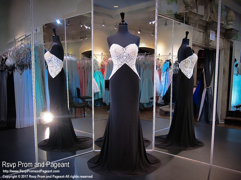 Black/White Sweetheart Prom Dress - Rsvp XCT - Long Gown - Rsvp Prom and Pageant Atlanta, Georgia GA - 3