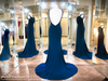 Blue V Neckline Form Fitting Low Cut Back Long Dress 118BP0111350 / Rsvp Prom and Pageant / Best Prom Dresses / Promheaven