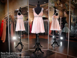 Blush Sweetheart Chiffon Homecoming Dress (SALE) - Rsvp DJ - Short Dress - Rsvp Prom and Pageant Atlanta, Georgia GA - 3