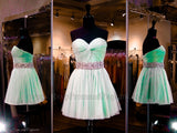Mint Sweetheart Softly Pleated Homecoming Dress - Rsvp JV - Short Dress - Rsvp Prom and Pageant - 1
