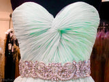 Mint Sweetheart Softly Pleated Homecoming Dress - Rsvp JV - Short Dress - Rsvp Prom and Pageant - 3