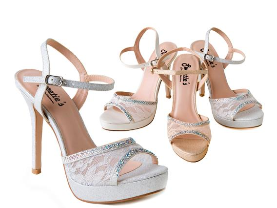 9039132d82a Silver Lace Sparkly High Heel