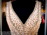 Nude V Neck Formfitting Beaded Homecoming Dress / Rsvp Prom and Pageant, Atlanta, GA / Best Prom Store in Atlanta / #Promheaven