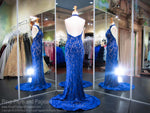 Royal Lace High-Neckline Halter Prom Dress 118JC062110 / Rsvp Prom and Pageant / Best Prom Dresses in Atlanta / #Promheaven