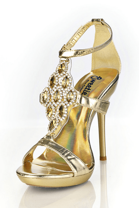 Gold Bling Heels - Rsvp Prom and Pageant, Atlanta, GA