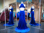 Electric Blue Velvet High Neckline Open Back Mermaid Prom Dress 118CLAR034680 / Rsvp Prom and Pageant / Best Prom Dresses in Atlanta / #Promheaven