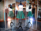 Ivory/Emerald Two-piece Short Homecoming Dress - Rsvp DJ - Short Dress - Rsvp Prom and Pageant - 3