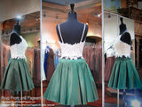 Ivory/Emerald Two-piece Short Homecoming Dress - Rsvp DJ - Short Dress - Rsvp Prom and Pageant - 2