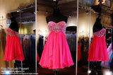 Fuchsia Chiffon Sweetheart Homecoming Dress - Rsvp SH - Short Dress - Rsvp Prom and Pageant - 1