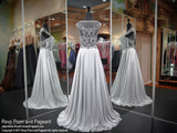 Gray Detailed High Neckline Prom Dress 117EC0172550 / Rsvp Prom and Pageant / Best prom Store / #Promheaven