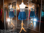 Navy Chiffon Short Homecoming Dress / Rsvp Prom and Pageant, Atlanta, GA / Best Prom Store in Atlanta / #Promheaven