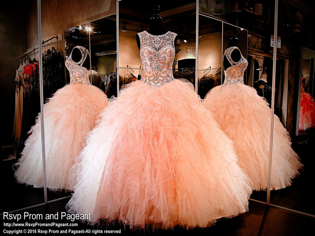 Blush Quinceanera Pageant ball gown / Rsvp Prom and Pageant ...