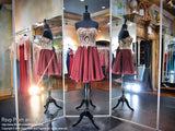 Strapless Ruby Short Homecoming Dress / Rsvp Prom and Pageant, Atlanta, GA / Best Prom Store in Atlanta / #Promheaven