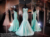 Aqua Strapless Mermaid Prom Dress - Rsvp COL - Long Gown - Rsvp Prom and Pageant Atlanta, Georgia GA - 1