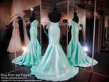 Aqua Strapless Mermaid Prom Dress - Rsvp COL - Long Gown - Rsvp Prom and Pageant Atlanta, Georgia GA - 2