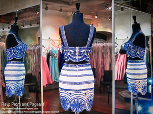 Two-Piece White Royal Short Homecoming Dress / Rsvp Prom and Pageant, Atlanta, GA / Best Prom Store in Atlanta / #Promheaven