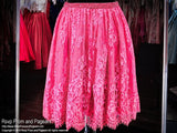 Fuchsia Beaded Lace Two-Piece Short Homecoming Dress - Rsvp Prom and Pageant, Atlanta, GA