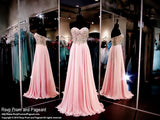 Blush/Pink Chiffon Prom Dress-Sweetheart Neckline-116CLAR027150 - Rsvp EC - Long Gown - Rsvp Prom and Pageant - 1
