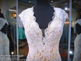 Ivory V-Neck Lace Mermaid Prom Dress / Rsvp Prom and Pageant, Atlanta, GA / Best Prom Store in Atlanta / #Promheaven