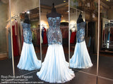 Light Blue Strapless Sweetheart Mermaid Prom Dress (SALE) - Rsvp SH - Long Gown - Rsvp Prom and Pageant Atlanta, Georgia GA - 1