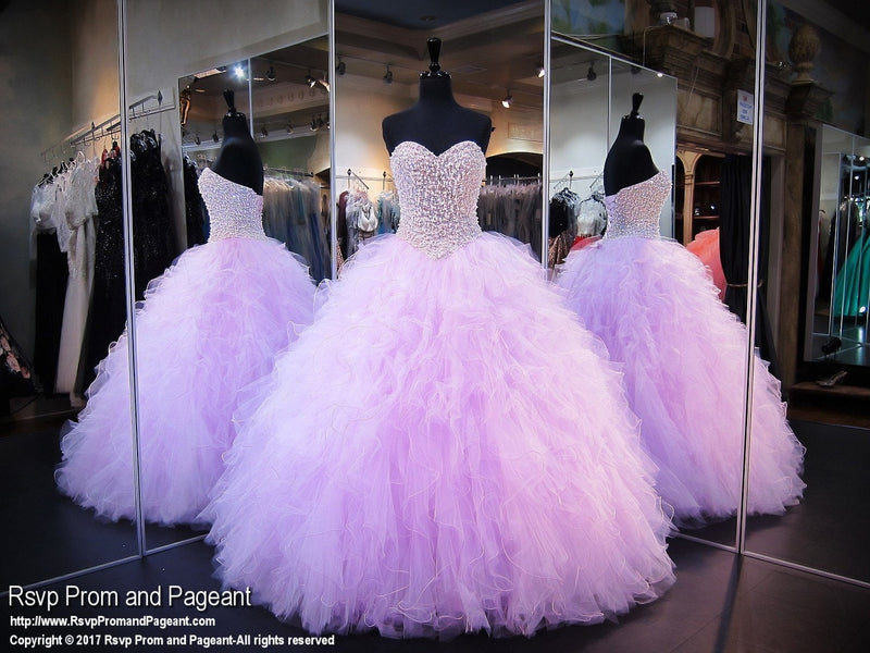 Light Purple Beaded Sweetheart Ball Gown / Rsvp Prom and Pageant, Atlanta, GA / Best Prom Store in Atlanta / #Promheaven