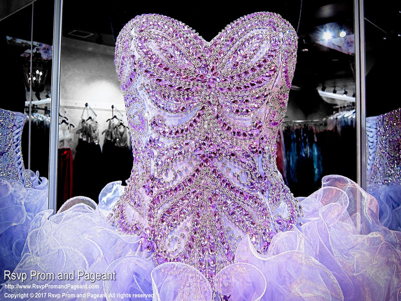 Lilac Beaded Sweetheart Quinceanera Ball Gown - Rsvp Prom and Pageant - Best Prom Store in the USA